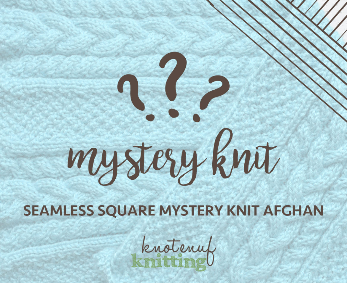 seamless square afghan mystery knit
